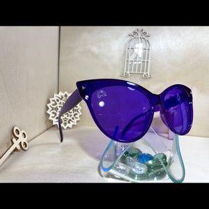 Rainbow Optx Accessories - Translucent Indigo Cat Eye frame and lenses